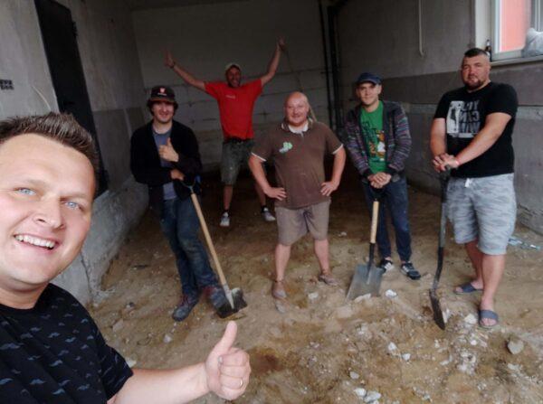 OSP Bucze - Prace remontowe w garażu remizy